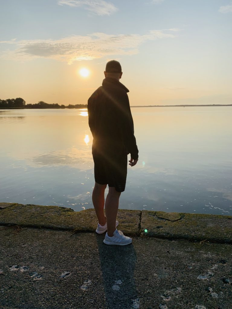 Alex beim Sonnenuntergang in Kamien Pomorski