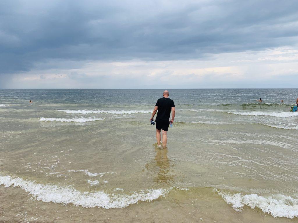 Alex in der Ostsee in Dziwnow