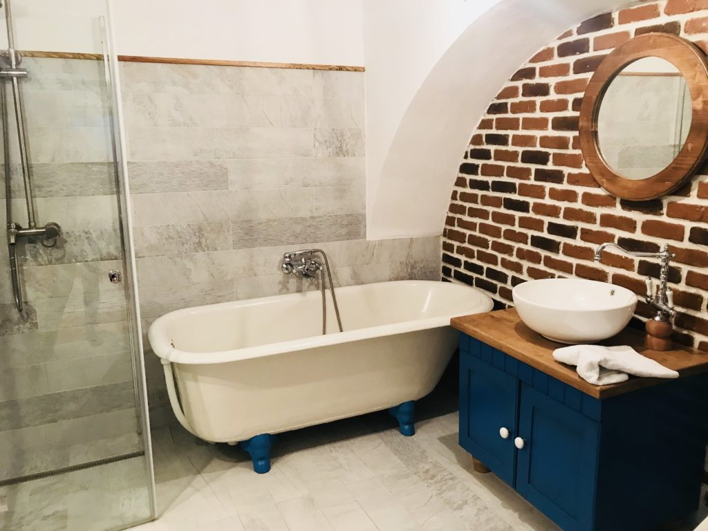 Badezimmer im Airbnb in Sibiu