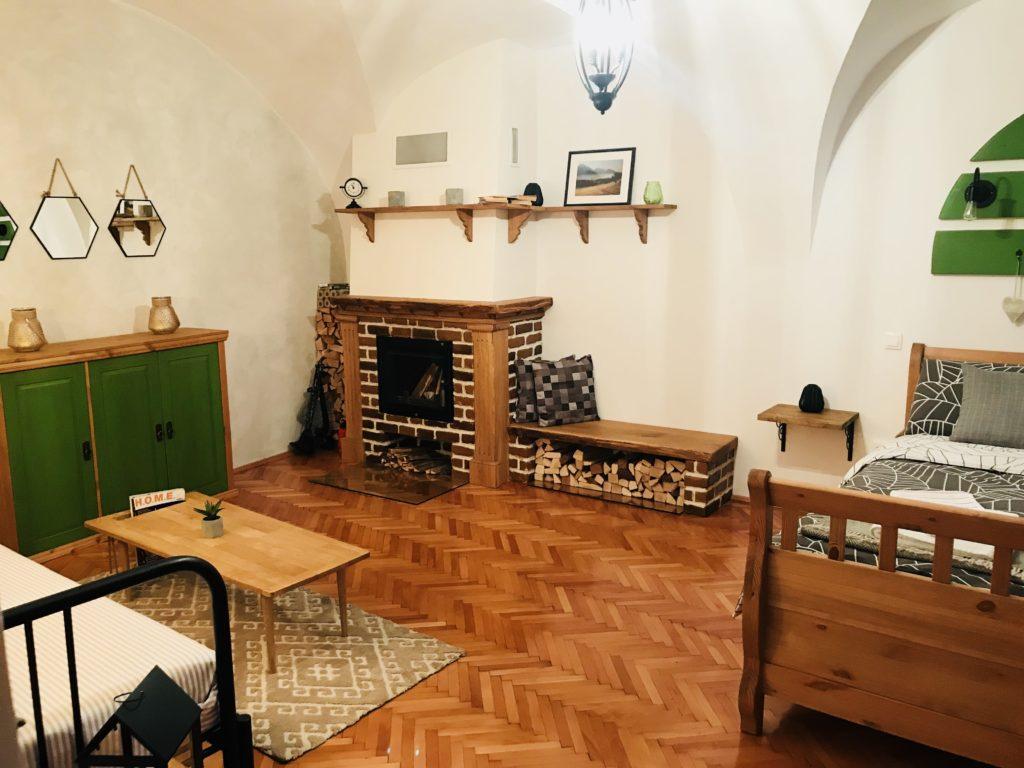 Schlafzimmer im Airbnb in Sibiu