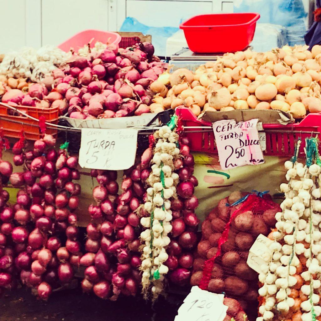 Gemüsestand auf dem Cibin-Markt