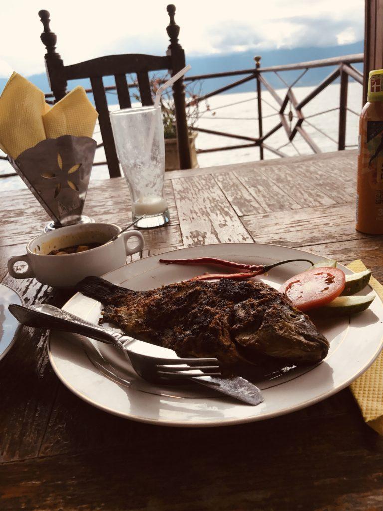 Gegrillter Fisch in Waterfront Zalino