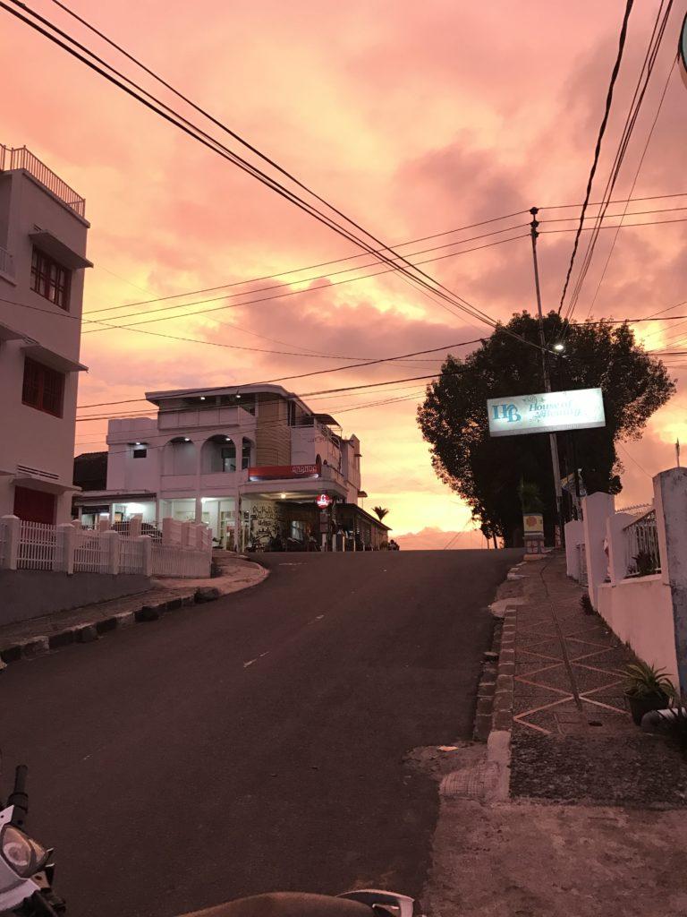 Sonnenuntergang in Bukittinggi