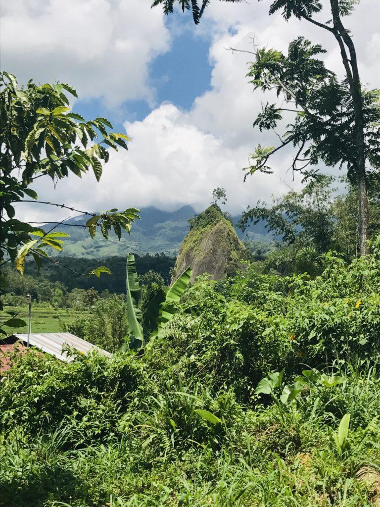 Umgebung von Bukittinggi während wir Sumatra auf eigene Faust bereisen