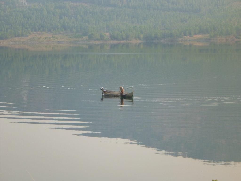 Ein Fischer auf dem Skutarisee