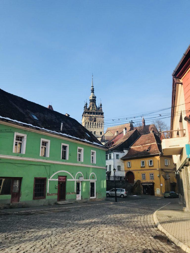 Die Innenstadt von Schäßburg