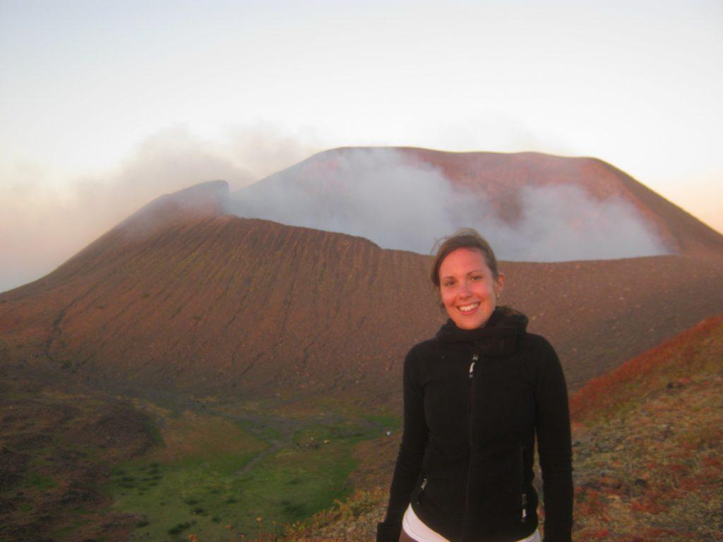Mascha am Vulkan Telica