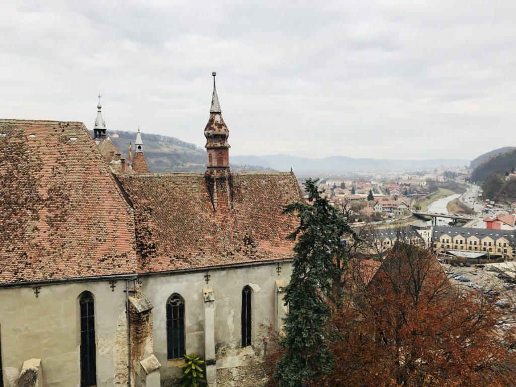Der Blick vom Stundturm auf Schäßburg