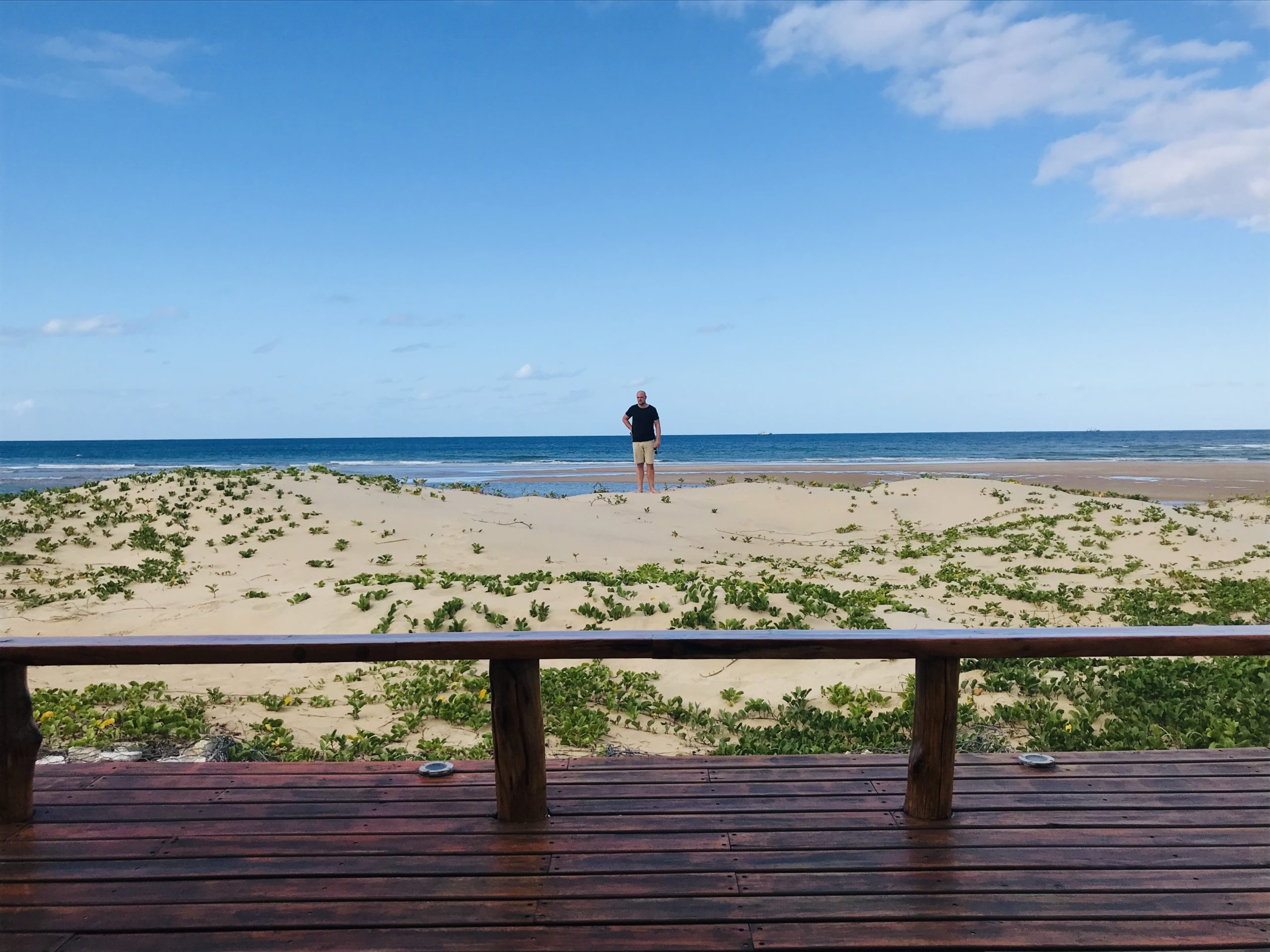 Alex am Barra Beach, Mosambik