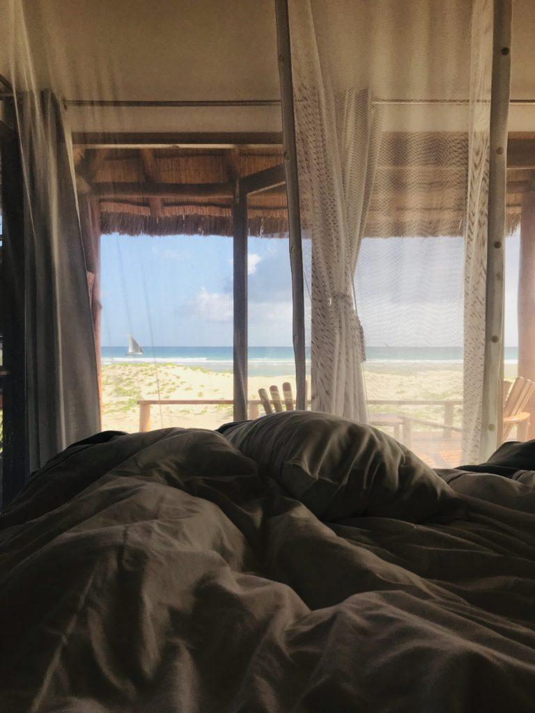 Der Blick aus dem Bett in Sia Sente